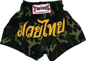 Twins Thai Style Trunks Army Camo